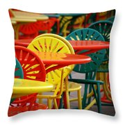 Chat Room Throw Pillow