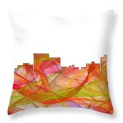 Chatanooga Tennissee Skyline Throw Pillow