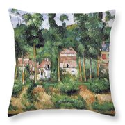 Chateau At Medan, 1880 Throw Pillow