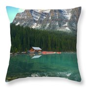 Chateau Boat House Throw Pillow