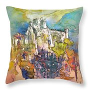 Chateau Cathare De Puylaurens 01 - France Throw Pillow