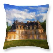 Chateau D'acquigny  Throw Pillow