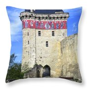 Chateau De Chinon Throw Pillow