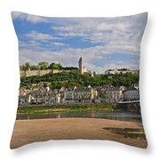 Chateau De Chinon Panorama Throw Pillow