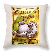 Chateau De Ivrogne Throw Pillow