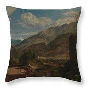 Chateau De St Michael  Throw Pillow