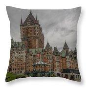 Chateau Frontenac Throw Pillow