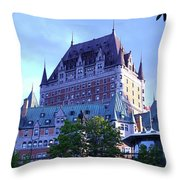 Chateau Frontenac, Montreal Throw Pillow