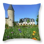 Chateau Guiraud In Spring Throw Pillow