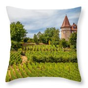 Chateau In A Vineyard Throw Pillow