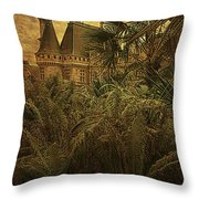 Chateau In The Jungle Throw Pillow