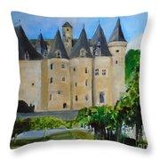 Chateau Jumilhac, France Throw Pillow