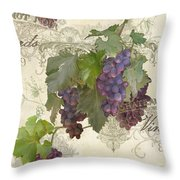 Chateau Pinot Noir Vineyards - Vintage Style Throw Pillow