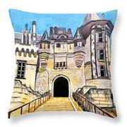 Chateau Saumur, A Long Way Up Throw Pillow