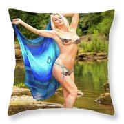 Chattahoochee Meditation Dance Throw Pillow