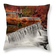Chattahoochee River Helen Ga 002 Throw Pillow