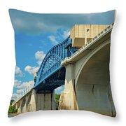 Chattanooga Bridge Throw Pillow
