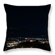 Chattanooga By Night Throw Pillow