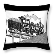 Chattanooga Choo Choo Sign In Black And White Throw Pillow