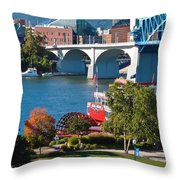 Chattanooga Landmarks Throw Pillow by Tom and Pat Cory