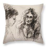 Chatting Throw Pillow