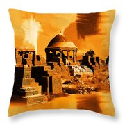 Chaukhandi Tombs Throw Pillow