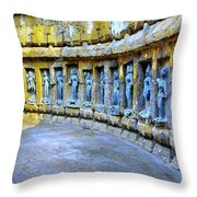 Chausath Yogini Temple Throw Pillow