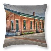 Glendale,ohio Train Depot Throw Pillow