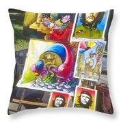 Che Guevara And Other Artwork Throw Pillow