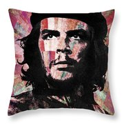 Che Guevara Revolution Red Throw Pillow