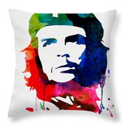 Che Guevara Watercolor 2 Throw Pillow