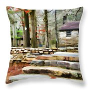 Cheaha State Park In The Fall Throw Pillow