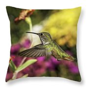 Check Out That Zinnia Throw Pillow