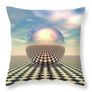Checker Ball Throw Pillow