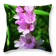 Checkerbloom Throw Pillow
