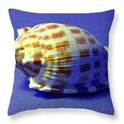 Checkered Helmet Seashell Throw Pillow