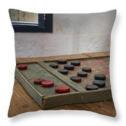 Checkered Past - Checkers Throw Pillow