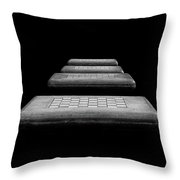 Checkered Steps Throw Pillow