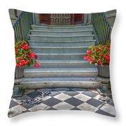 Checkered Tile Throw Pillow
