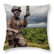 Checking For Gas Throw Pillow