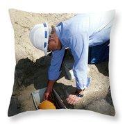 Checking Seismometer Throw Pillow