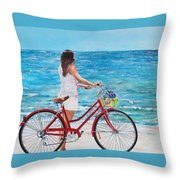 Checking The Surf Throw Pillow