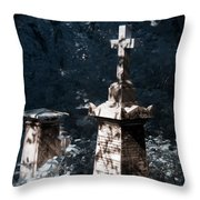 Checkmate Throw Pillow by Helga Novelli