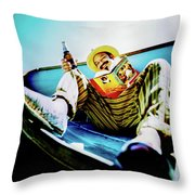Cheech Marin In Boat Throw Pillow