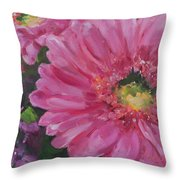 Cheerful Blush Throw Pillow
