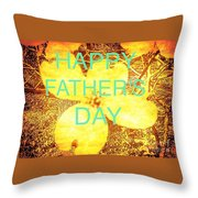 Cheerful Father's Day Throw Pillow