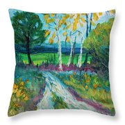 Cheerful Path Throw Pillow