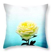 Cheerful Yellow Rose Throw Pillow