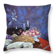 Cheese And Good Wine Throw Pillow