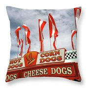 Cheese Dogs Galore Throw Pillow